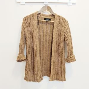 Forever 21 Light Brown Chunky Knit Cardigan Small